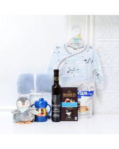 Plush Penguin & Chocolates Baby Gift Basket, baby gift baskets, baby gifts, gift baskets