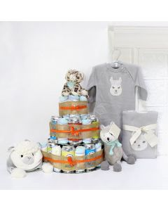 """""""Huggies & Chuggies"""" Gift Set, Unisex Baby Gifts, Gifts For Baby, New Parents, Diaper & Beer Gifts"""