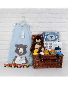 DELUXE BABY BOY SLEEP & BATH SET, baby boy gift hamper, newborns, new parents