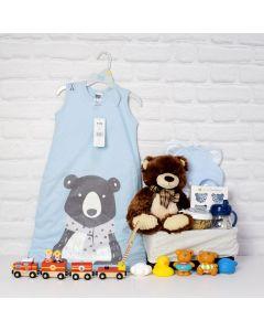 BABY BOY SLEEP & BATH SET, BABY BOY gift hamper, newborns, new parents