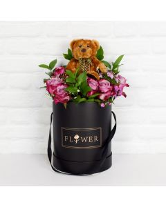 NEW BABY FLOWERS CELEBRATION SET, unisex gift hamper, newborns, new parents