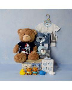 BABY BOY'S BATH TIME FUN SET, baby boy gift hamper, newborns, new parents