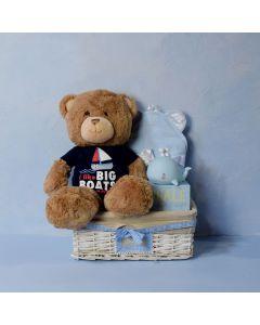 BABY BOY'S SEASIDE SET, baby boy gift hamper, newborns, new parents