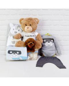 BABY BOY ANIMALS COMPANION SET, baby boy gift hamper, newborns, new parents