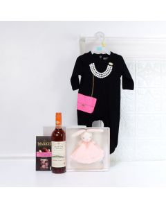Celebrate Mommy & Daughter Gift Set, baby gift baskets, baby boy, baby gift, new parent, baby, champagne