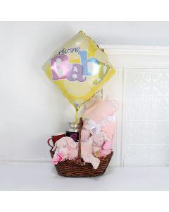 """Welcome Home"" Pretty Girl Gift Basket"
