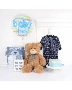 Cute Little Guy Gift Basket, Baby Boy Gift Set