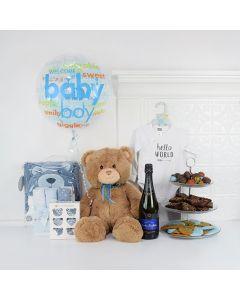 Tiny Fella Celebration Gift Basket, Baby Boy Gifts