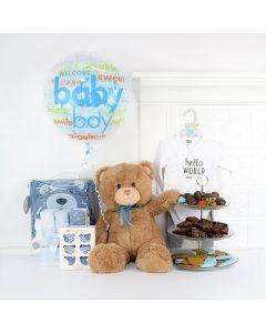 The Little Fella Gift Basket, gift baskets, baby gift baskets, gourmet gift baskets