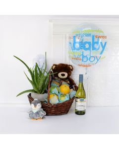 The Baby Boy is Here Gift Basket, baby gift baskets, baby gifts, gift baskets