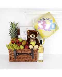 Growing Toddler Gift Set with Wine, baby gift baskets, wine gift baskets